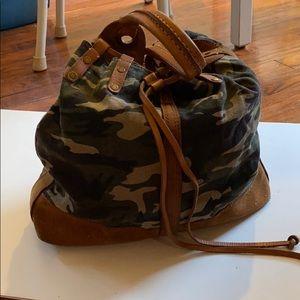Lucky Brand Camo Canvas Bag